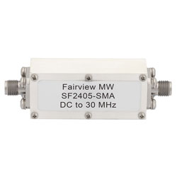 Lowpass Filter Operating From DC to 30 MHz With SMA Female Connectors high resolution