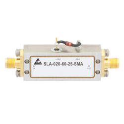 60 dB Gain Limiting Amplifier Operating From 1 GHz to 2 GHz with -40 to 10 dBm Pin, 19 dBm Psat and SMA high resolution