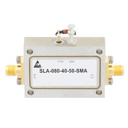 40 dB Gain Limiting Amplifier Operating From 2 GHz to 8 GHz with -20 to 20 dBm Pin, 19 dBm Psat and SMA high resolution