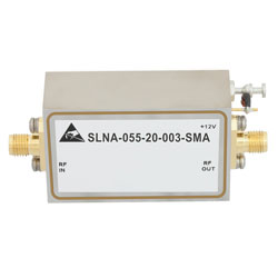 800 MHz to 5.5 GHz, Medium Power Broadband Amplifier with 600 mW, 12 dB Gain and SMA high resolution