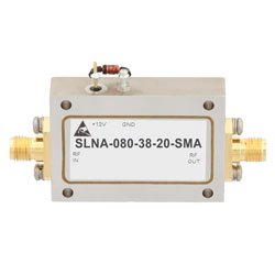 2 dB NF Low Noise Amplifier Operating From 4 GHz to 8 GHz with 38 dB Gain, 13 dBm Psat and SMA high resolution
