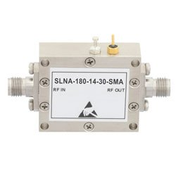 100 MHz to 18 GHz, Low Noise Broadband Amplifier with 18 dBm, 14 dB Gain, 28 dBm IP3 and SMA high resolution