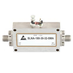 1 GHz to 18 GHz, Medium Power Broadband Amplifier with 20 dBm, 30 dB Gain and SMA high resolution
