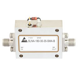 2 GHz to 18 GHz, Medium Power Broadband Amplifier with 13 dBm, 33 dB Gain and SMA high resolution