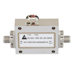 500 MHz to 18 GHz, Medium Power Broadband Amplifier with 15 dBm, 33 dB Gain and SMA high resolution