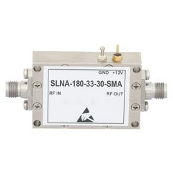 3 dB NF, 2 GHz to 18 GHz, Low Noise Broadband Amplifier with 15 dBm, 33 dB Gain and SMA high resolution