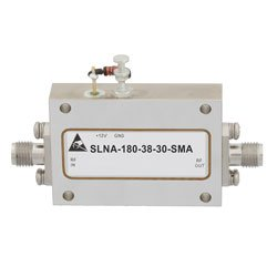 3 dB NF Low Noise Amplifier Operating From 12 GHz to 18 GHz with 38 dB Gain, 13 dBm Psat and SMA high resolution