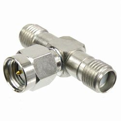 AIM SMA TEE 1 MALE TO 2 FEMALE CONNECTOR ADAPTER