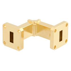 WR-42 Waveguide E-Bend Instrumentation Grade Using UG-595/U Flange With a 18 GHz to 26.5 GHz Frequency Range high resolution