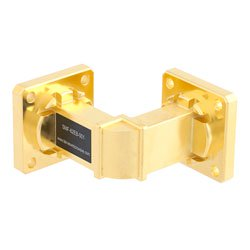 WR-62 Waveguide E-Bend Instrumentation Grade Using UG-419/U Flange With a 12.4 GHz to 18 GHz Frequency Range high resolution