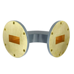 WR-137 Waveguide H-Bend Commercial Grade Using UG-344/U Flange With a 5.85 GHz to 8.2 GHz Frequency Range high resolution