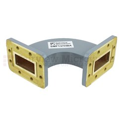 WR-137 Waveguide H-Bend Commercial Grade Using CPR-137G Flange With a 5.85 GHz to 8.2 GHz Frequency Range high resolution
