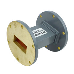 WR-137 Waveguide Section 3 Inch Length Straight Using UG-344/U Flange With a 5.85 GHz to 8.2 GHz Frequency Range in Commercial Grade high resolution