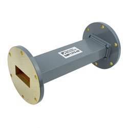 WR-137 Waveguide Section 6 Inch Length Straight Using UG-344/U Flange With a 5.85 GHz to 8.2 GHz Frequency Range in Commercial Grade high resolution