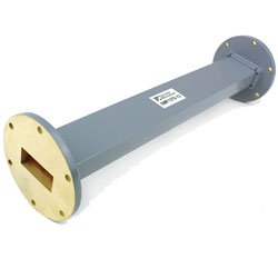 WR-137 Waveguide Section 12 Inch Length Straight Using UG-344/U Flange With a 5.85 GHz to 8.2 GHz Frequency Range in Commercial Grade high resolution