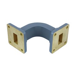 WR-62 Waveguide E-Bend Commercial Grade Using UG-419/U Flange With a 12.4 GHz to 18 GHz Frequency Range high resolution