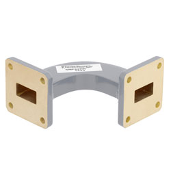 WR-62 Waveguide H-Bend Commercial Grade Using UG-419/U Flange With a 12.4 GHz to 18 GHz Frequency Range high resolution