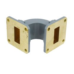 WR-90 Waveguide E-Bend Commercial Grade Using UG-39/U Flange With a 8.2 GHz to 12.4 GHz Frequency Range high resolution