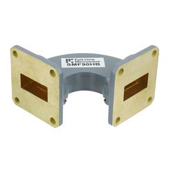 WR-90 Waveguide H-Bend Commercial Grade Using UG-39/U Flange With a 8.2 GHz to 12.4 GHz Frequency Range high resolution