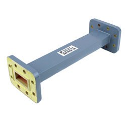WR-90 Waveguide Section 6 Inch Length Straight Using CPR-90G Flange With a 8.2 GHz to 12.4 GHz Frequency Range in Commercial Grade high resolution