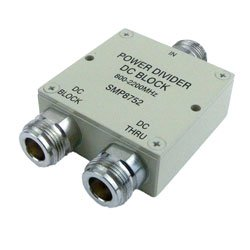 2 Way Power Divider N Connectors From 800 MHz to 2 2 GHz