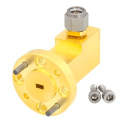 WR-10 to 1.0mm Male Waveguide to Coax Adapter UG-387/U-Mod Round Cover Flange With 75 GHz to 110 GHz Frequency Range For W Band high resolution