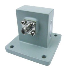 WR-112 to SMA Female Waveguide to Coax Adapter UBR84 Standard with 7.05 GHz to 10 GHz X Band in Aluminum high resolution