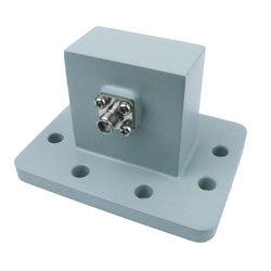 WR-159 to SMA Female Waveguide to Coax Adapter UDR58 Standard with 4.9 GHz to 7.05 GHz in Aluminum high resolution