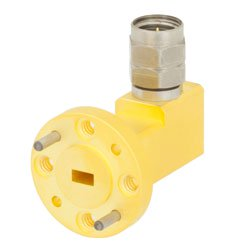WR-15 to 1.85mm Male Waveguide to Coax Adapter UG-385/U Round Cover Flange With 50 GHz to 65 GHz Frequency Range For V Band high resolution