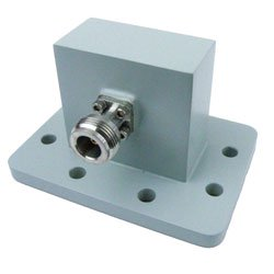 WR-187 to Type N Female Waveguide to Coax Adapter PDR48 Standard with 3.85 GHz to 5.85 GHz in Aluminum high resolution