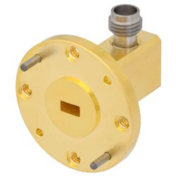 WR-19 to 1.85mm Female Waveguide to Coax Adapter UG-383/U-Mod Round Cover Flange With 40 GHz to 60 GHz Frequency Range For U Band high resolution