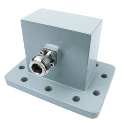 WR-229 to Type N Female Waveguide to Coax Adapter UDR40 Standard with 3.3 GHz to 4.9 GHz in Aluminum high resolution