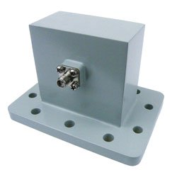 WR-229 to SMA Female Waveguide to Coax Adapter UDR40 Standard with 3.3 GHz to 4.9 GHz in Aluminum high resolution