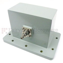WR-430 to SMA Female Waveguide to Coax Adapter UDR22 Standard with 1.7 GHz to 2.6 GHz in Aluminum high resolution