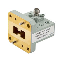 WRD750D24 to SMA Female Waveguide to Coax Adapter Square