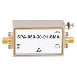 2 GHz to 6 GHz, Medium Power Broadband Amplifier with 1 Watt, 33 dB Gain and SMA high resolution