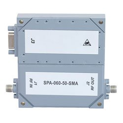 50 dB Gain High Power High Gain Amplifier at 50 Watt Psat Operating from 2 GHz to 6 GHz with SMA high resolution