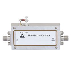6 GHz to 18 GHz, Medium Power Broadband Amplifier with 500 mW, 42 dB Gain and SMA high resolution