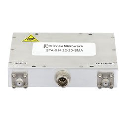 Bi-Directional Amplifier, High Power 5/20 Watts Linear/CW, 1.35 GHz to 1.39 GHz, 1 us switching, 22 dB Gain, SMA high resolution