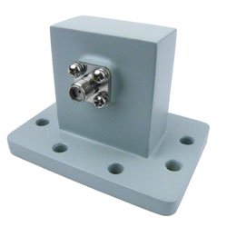 WR-137 to SMA Female Waveguide to Coax Adapter UDR70 Standard with 5.85 GHz to 8.2 GHz C Band in Aluminum high resolution