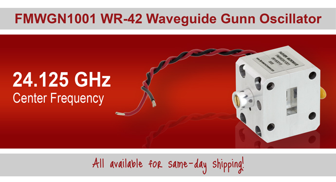 FMWGN1001 WR-42 Waveguide Gunn Oscillator 